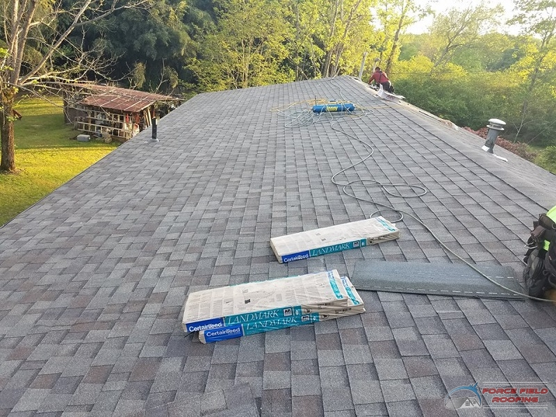 A Picture of CertainTeed Landmark Shingles Being Used On a Roof.