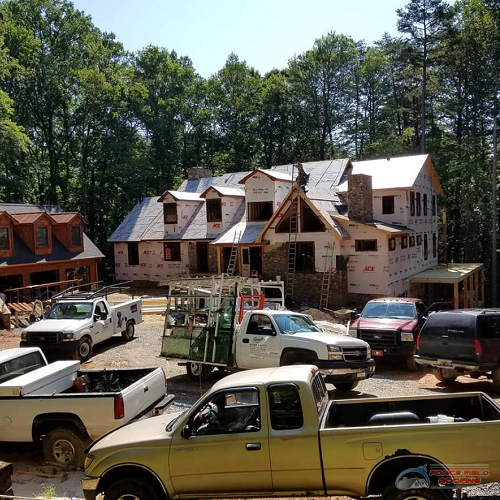 contractors and residential roofers working on property